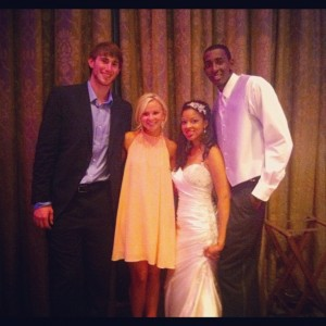 Gordon Hayward, Kolbi Killingback, Korrie and Jeremy Evans. Photo by @kolbik http://instagram.com/p/OxrdBhAvSb/