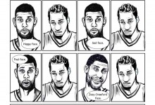 Kawhi Leonard comes from the Tim Duncan School of Facial Expressions