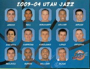 2003-04 utah jazz roster