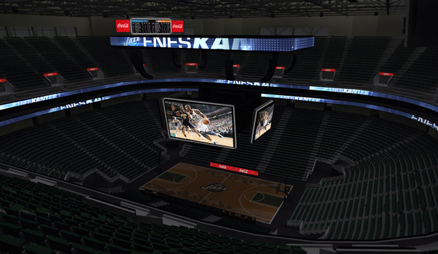 Jazz build new $15M scoreboards for arena