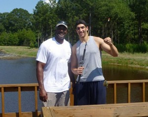 Kanter fishing with Malone