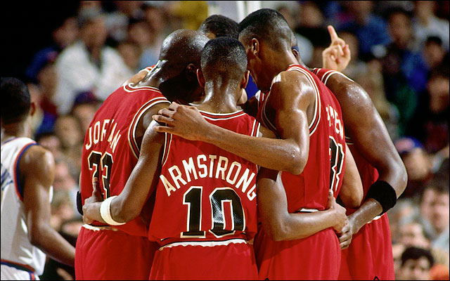 The Chicago Bulls passed and defended their way to six NBA Championships in the 90's. ((Nathaniel S. Butler/NBAE/Getty Images)