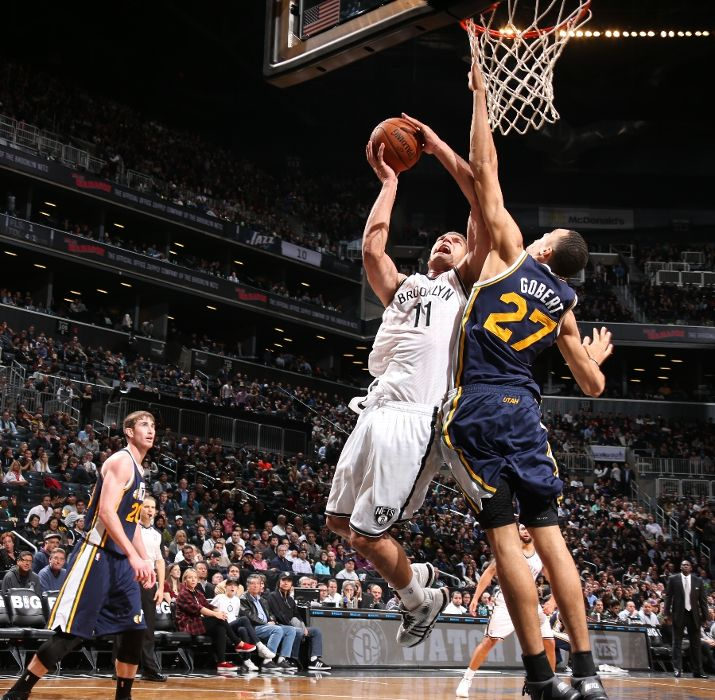 Rudy Gobert, when he uses his verticality, is pretty amazing. Photo by Nathaniel S. Butler/NBAE via Getty Images