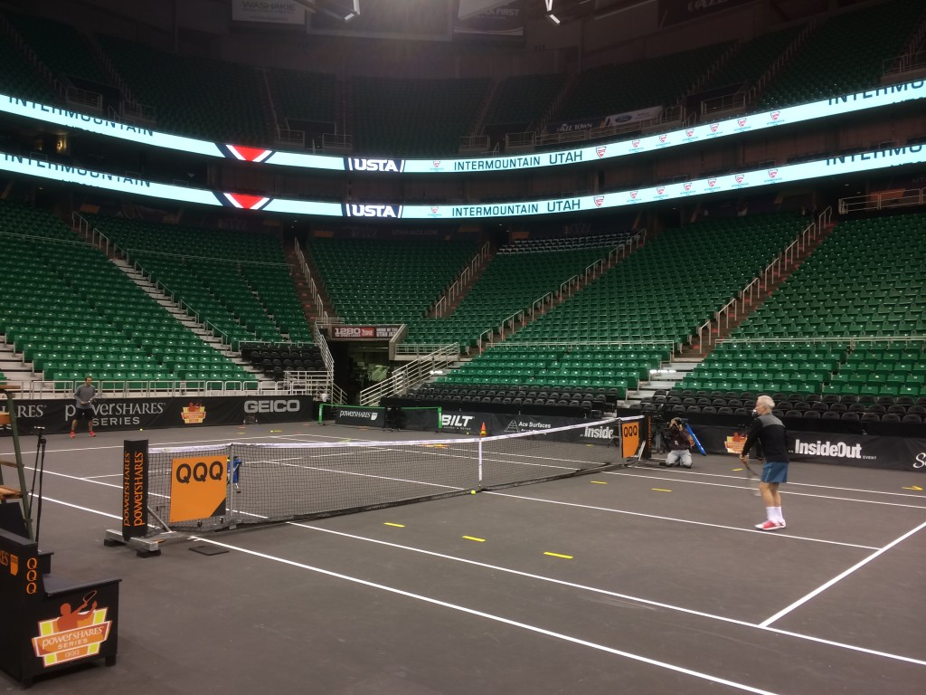 Gordon Hayward and John Lucas III Play Tennis with John McEnroe…