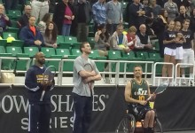 Gordon Hayward and John Lucas III Play Tennis with John McEnroe and Jim Courier
