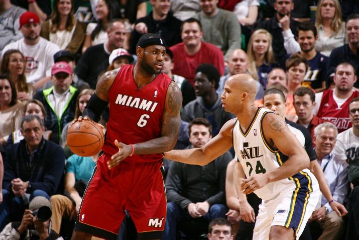 Richard Jefferson, improbably, outscored LeBron James in their SF matchup. Photo by Melissa Majchrzak/NBAE via Getty Images