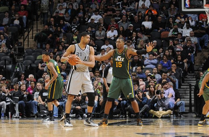 What does Derrick Favors say about his defense? (Photo by D. Clarke Evans/NBAE via Getty Images)