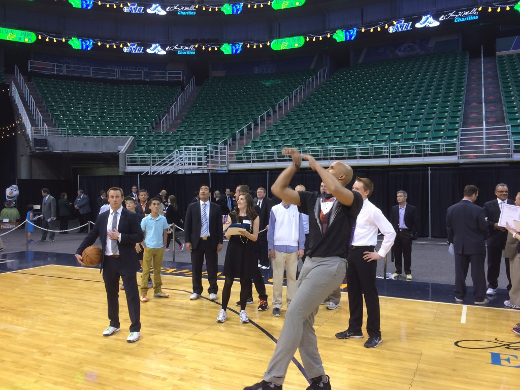 Richard Jefferson wore a tuxedo t-shirt under his actual suit. This gave him a great advantage in all of the shooting contests.