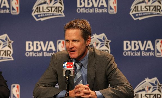 Steve Kerr is on a lot of teams' list as a potential head coach... including the Utah Jazz. (Getty Images)