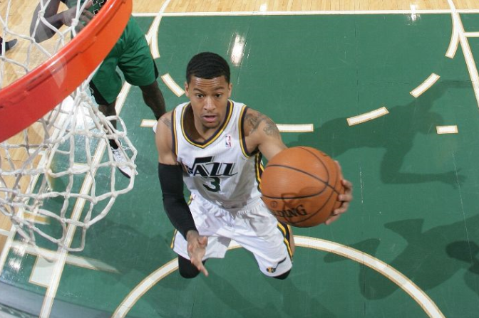 With players like Trey Burke still developing, how will the Jazz handle adding even more youth? (Photo by Melissa Majchrzak/NBAE via Getty Images)