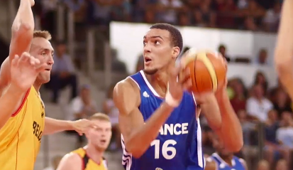 Rudy Gobert will be a part of France's second unit. (Image from FFBB.com.)