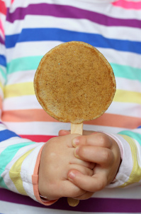 Yes, this is a pancake on a stick. Yes, somehow this is an object used in this post. (photo from flickr)