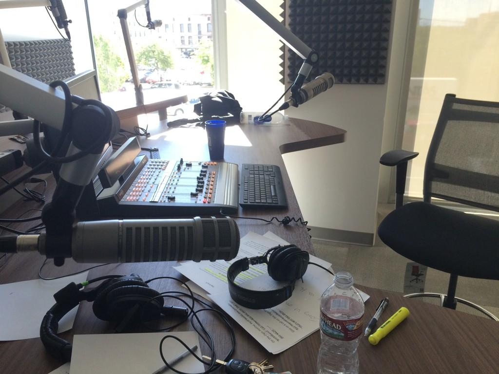 The ESPN700 studios (photo by Keith Stubbs).