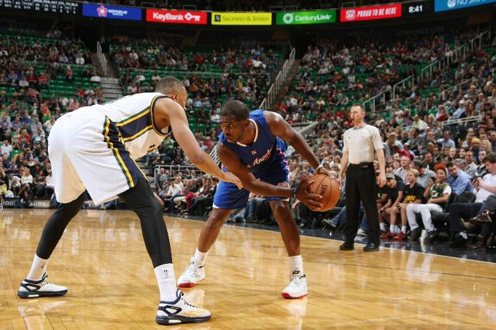 Dante Exum had significant time guarding Chris Paul tonight. (Photo by Melissa Majchrzak/NBAE via Getty Images)