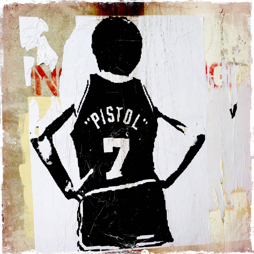 A shot of Pistol Pete street art in Chicago, IL. (Photo from flickr, Seth Anderson)