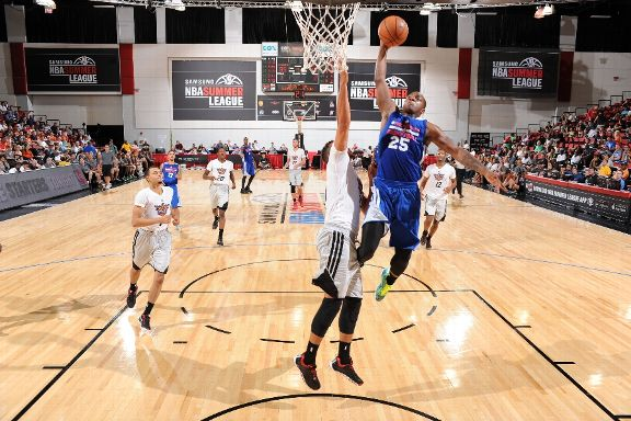 Elijah Millsap at Summer League. (Getty Images)