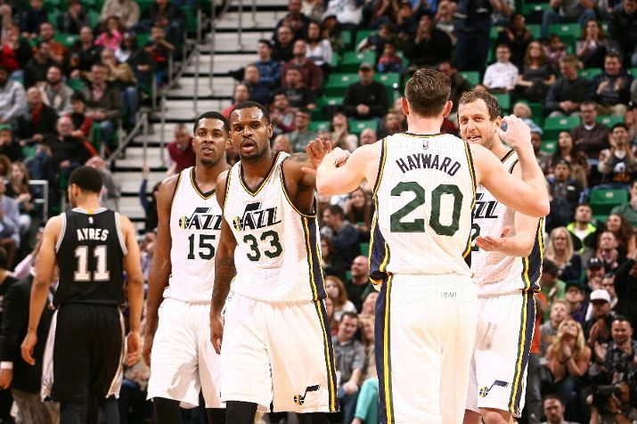 The Jazz. (Photo by Melissa Majchrzak/NBAE via Getty Images)