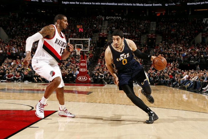 Could any Jazz players, like Enes Kanter, be on the move in the next two weeks? (Photo by Cameron Browne/NBAE via Getty Images)