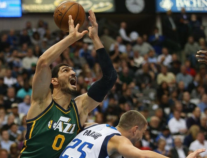 Might this have been Kanter's last game with the Jazz? Choose your own adventure and see! (Photo by Ronald Martinez/Getty Images)