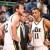 Joe Ingles and Dante Exum confer with coach Quin Snyder