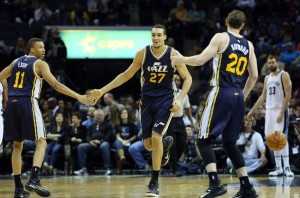 Rudy Gobert has been a big story. but the other starters, like Dante Exum and Gordon Hayward, are making good things happen (Nelson Chenault-USA TODAY Sports)