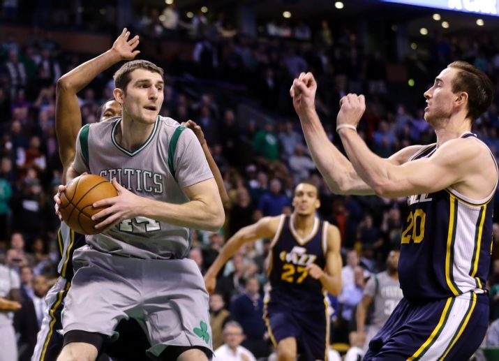 Zeller collects before his game-winner. (AP Photo/Elise Amendola)