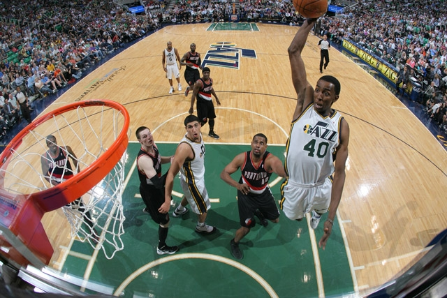 Has high-flying Jeremy Evans played his last game in Utah?  (Melissa Majchrzak/NBAE via Getty Images)