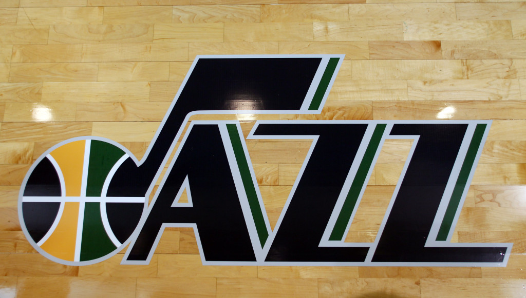 Utah Jazz logo, from June 2010. (Steve C. Wilson, Getty Images)