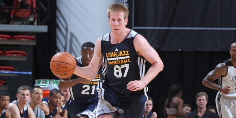 The Utah Jazz will take another look at Brock Motum, who spent time with the team last summer. (NBAE/Getty Images)
