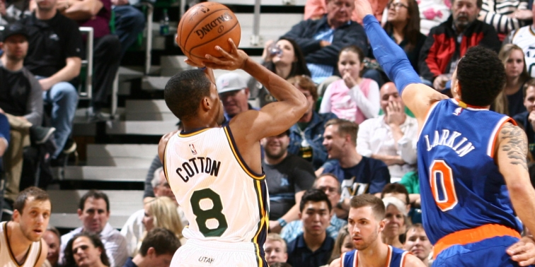 Few have impressed as much this summer as Jazz guard Bryce Cotton. (Melissa Majchrzak/NBAE/Getty Images)