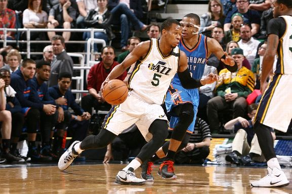 The Jazz hope that Rodney Hood will make them not regret pursuing free agent shooting guards. (Getty Images)
