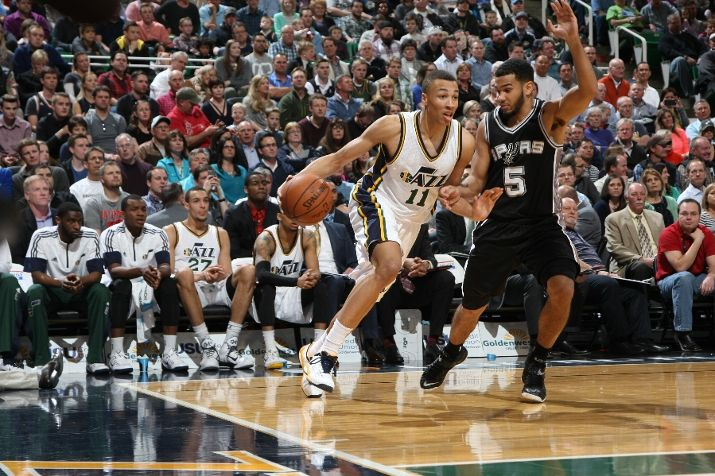 The future of the success of the Jazz relies greatly on Exum. (Photo by Melissa Majchrzak/NBAE via Getty Images)