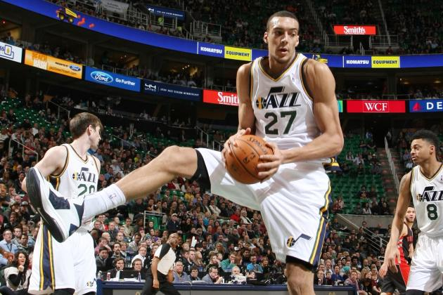 Rudy Gobert will be one of the NBA's big stories this seasons. At least that is the prediction here. (Melissa Majchrzak/Getty Images)