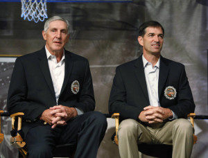 Jerry Sloan and John Stockton were involved in two December gifts that impacted the franchise in major ways. (Stephan Savoia, Associated Press)