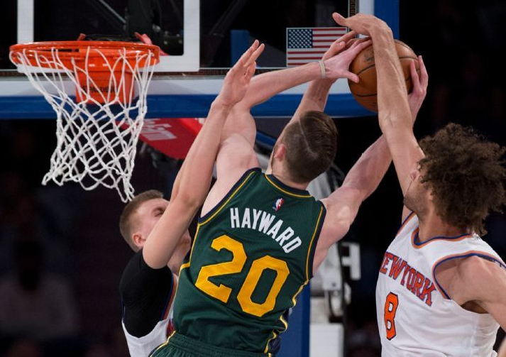 The Jazz lose a physical battle with the Knicks.