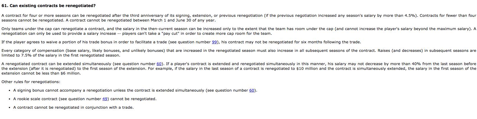 CBA FAQ 61