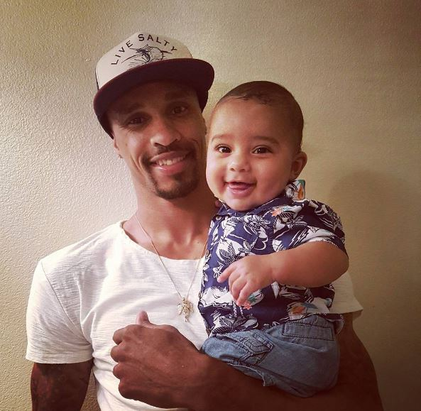 George Hill with Zayden, from his Instagram account