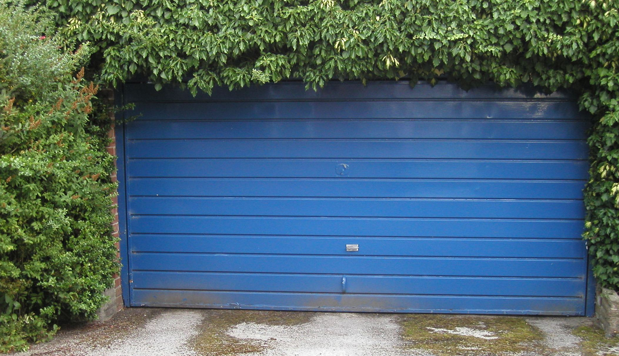 This photo of a garage door is literally taken from the Wikipedia article for garages.