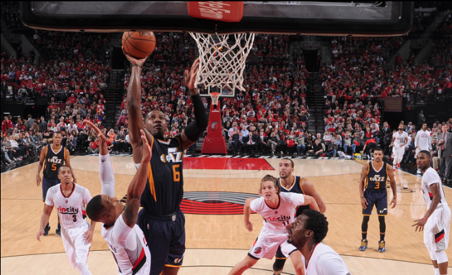 Joe Johnson heads to the basket and toward Jazz history. (utahjazz.com)