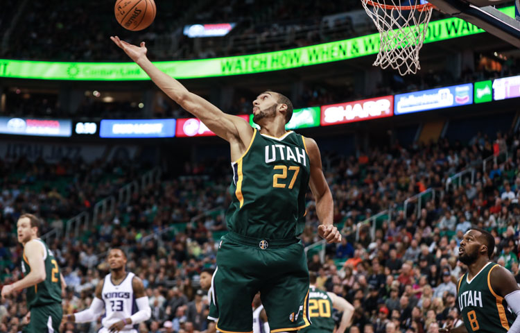 Is it a reach to say Gobert is the league's best at his position? Rudy says no. (John Asay via utahjazz.com)
