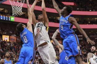 Utah Defense Stymies Thunder Super Trio in 96-87 Win