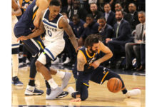 Jazz Fall to Wolves 97 to 100 after Crazy Fourth