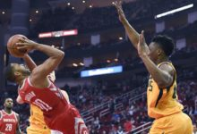 Rockets' Atomic Fourth Blows Away Jazz 99 – 120