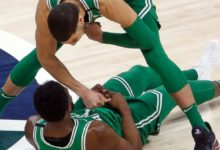 Wounded Celtics Blaze from Three, Down Jazz 97 – 94