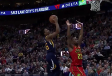 Dennis Schroder Career Night Leads Atlanta to a 99-94 Upset of the Jazz